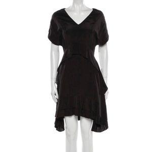 Balenciaga Silk A-Line Black Dress - Sz 38/US 8